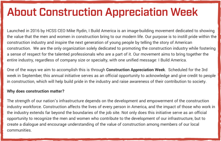 Construct Week Appreciation Week Graphic