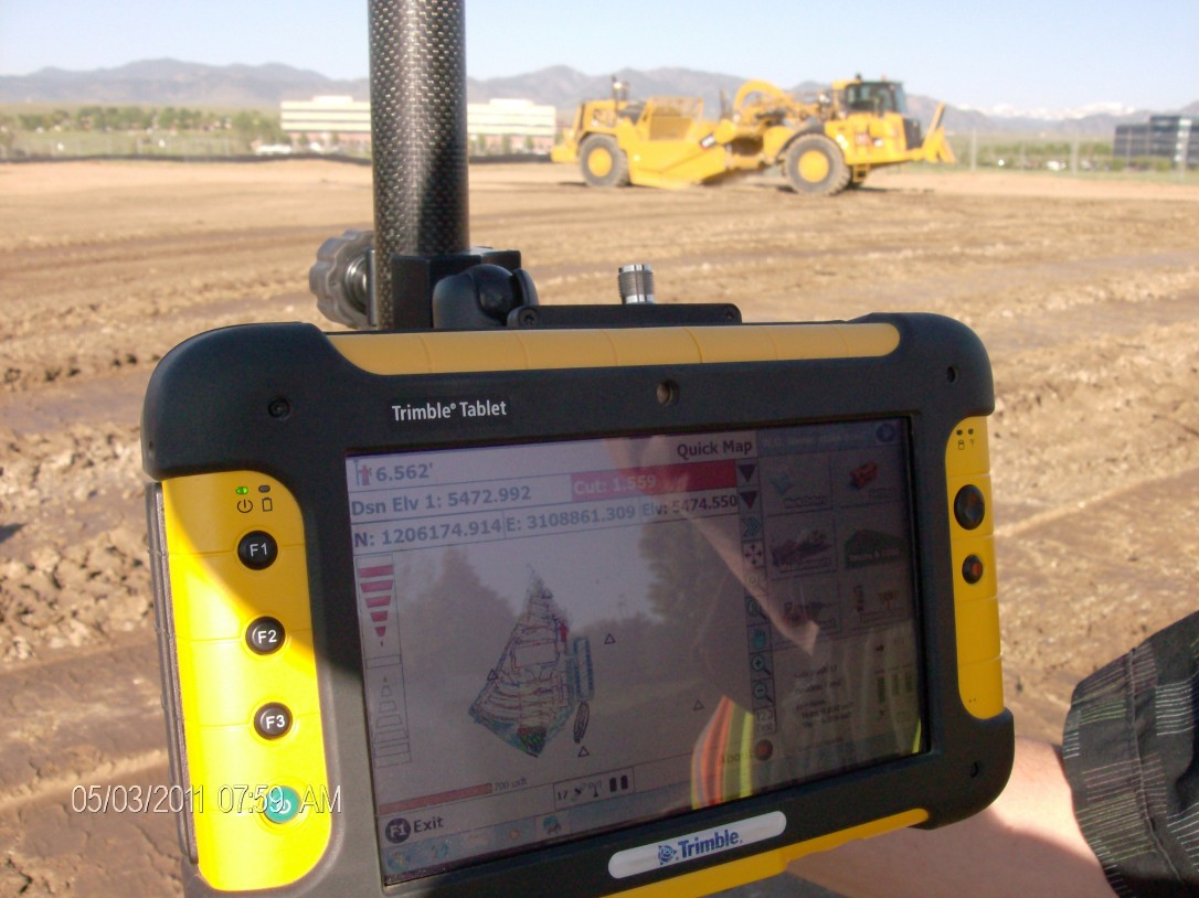 Trimble Tablet OE Construction USING 3-D MODELING, GPS TECHNOLOGY AND HEAVY EQUIPMENT MACHINE CONTROL IN THE FIELD