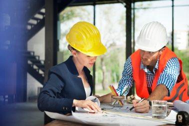 construction site woman